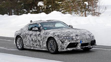 Toyota Supra Looks Like It's Posing For The Camera In New Spy Shots