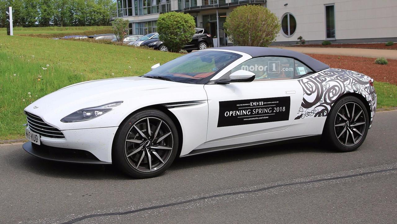 Aston Martin DB11 Volante Spied Again With Even Less Camo