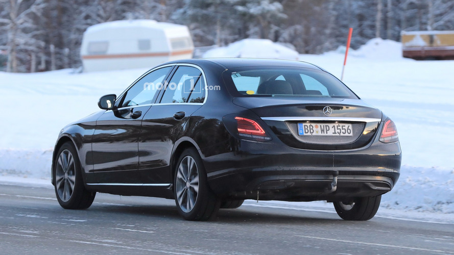Mercedes C-Class facelift caught flaunting its new taillights