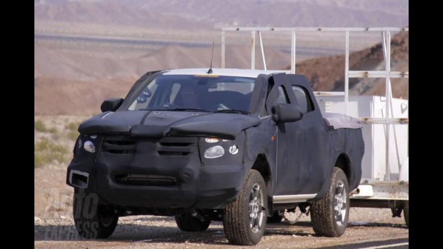 Nova Ford Ranger é flagrada em testes com camuflagem pesada