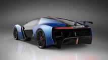 Tesla EXP hiper otomobil render