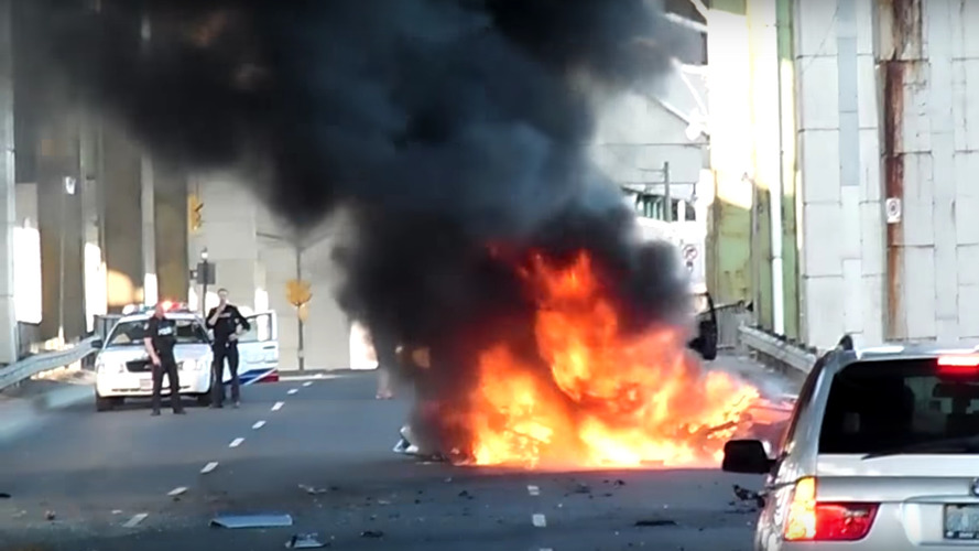 Another one bites the dust after Lambo crashes, burns in T.O.
