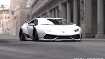 Liberty Walk Lamborghini Huracan rendering