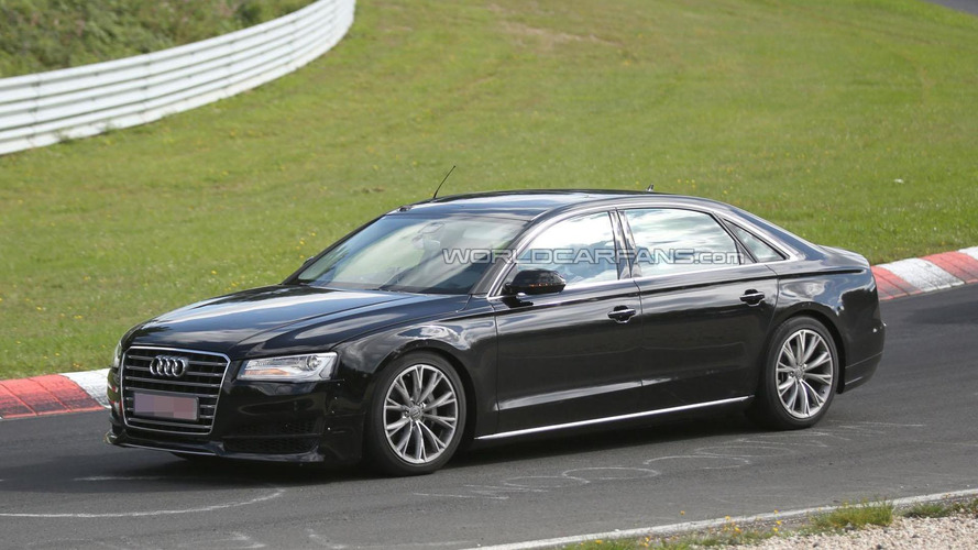 2016 Audi A8 mule spied on the Nurburgring