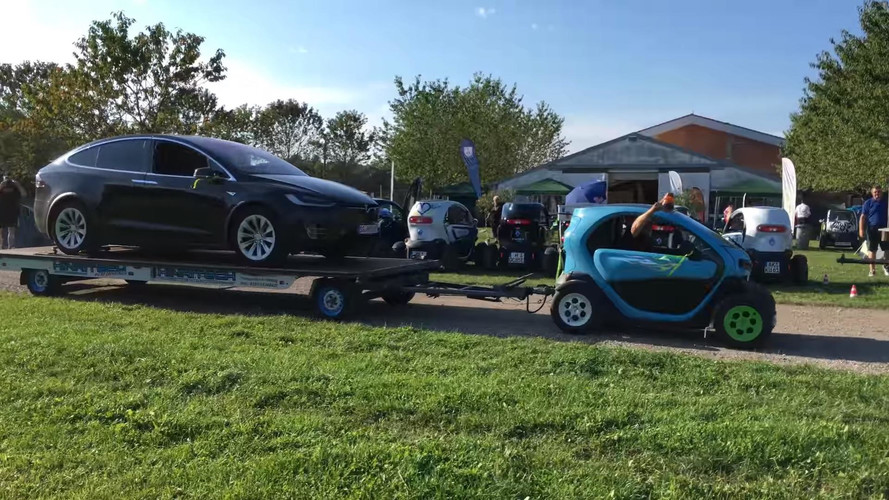 Say What? Renault Twizy Tows Tesla Model X