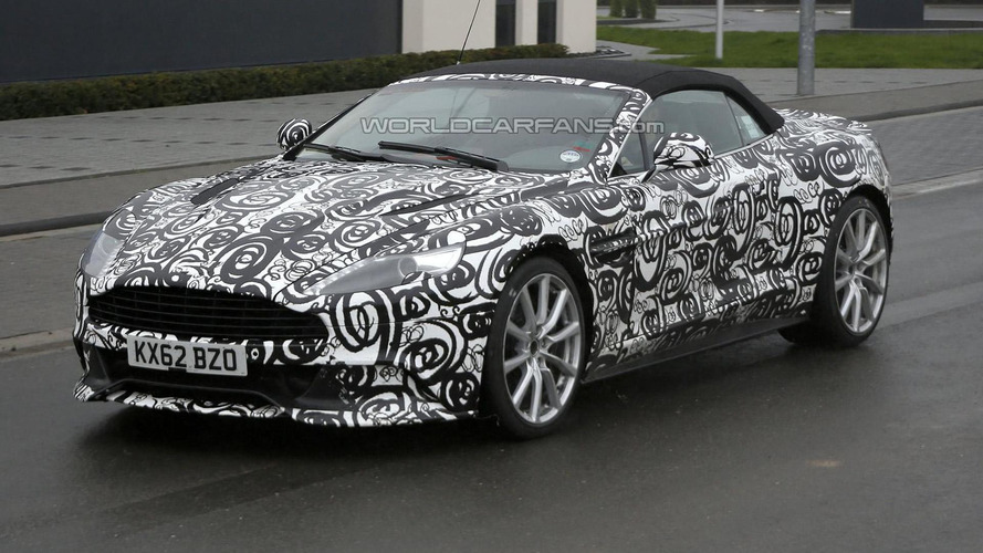 Aston Martin Vanquish Volante stars in another spy photo session