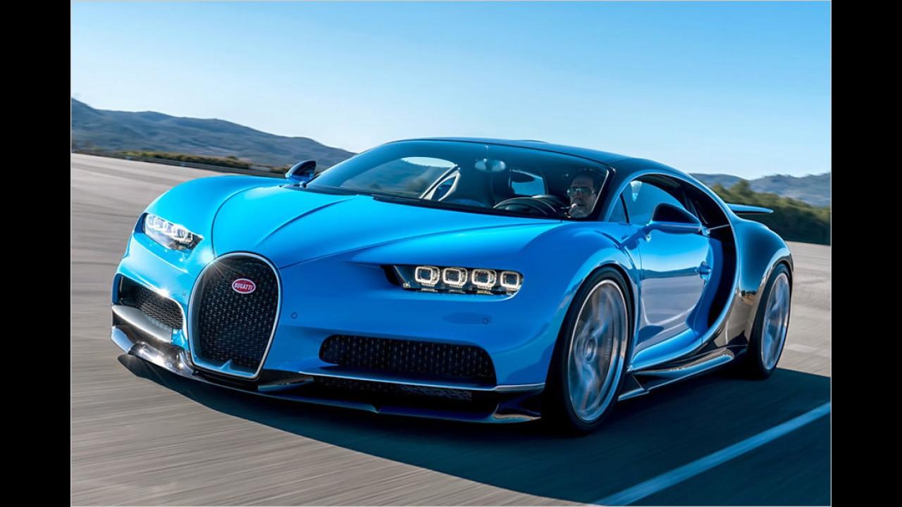 Stärkstes Serienauto: Bugatti Chiron, 1.500 PS