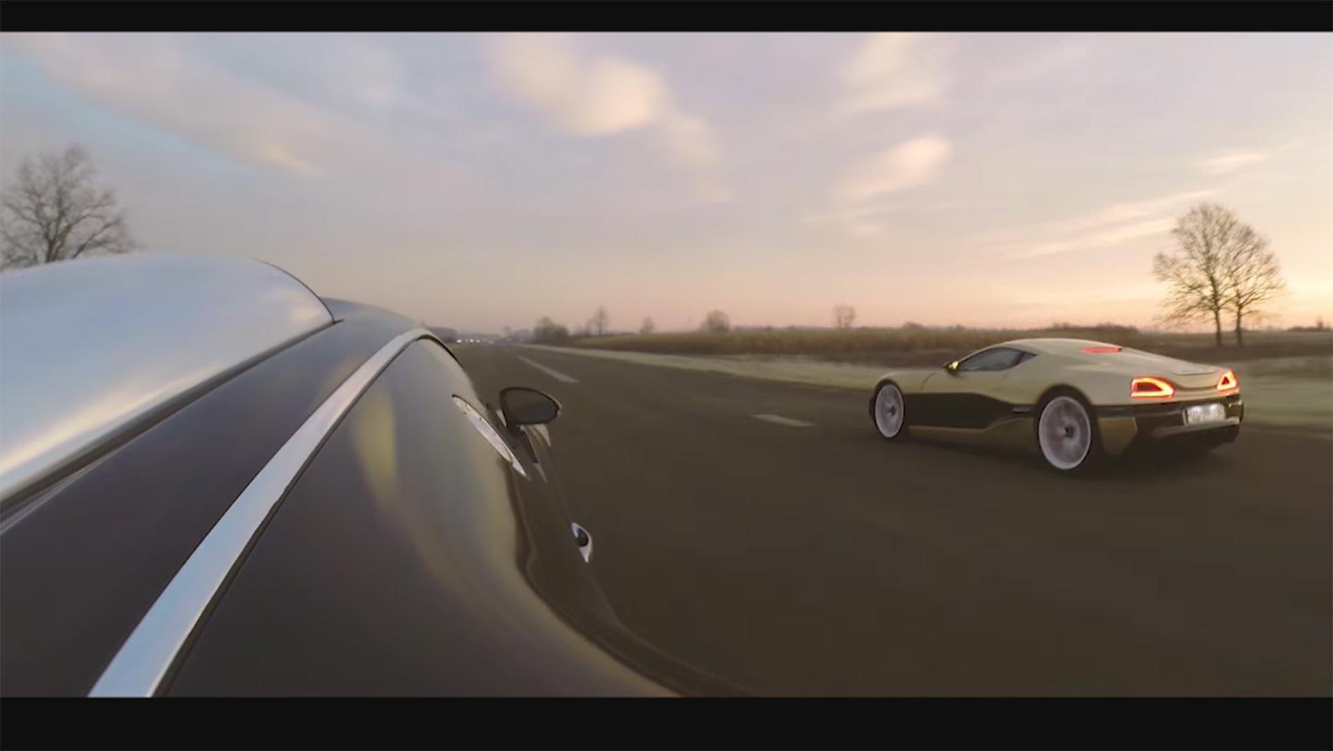 bugatti-veyron-and-rimac-race Wonderful Bugatti Veyron On Road Price Cars Trend