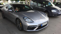 Porsche Panamera practically uncovered on the road