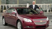 Bob Lutz with Chevrolet Malibu