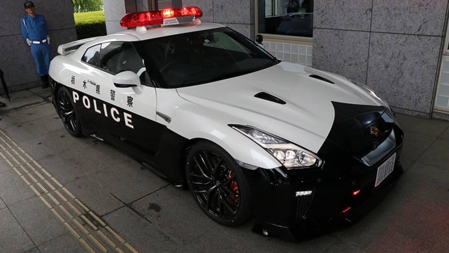 Nissan GT-R Police Car In Japan