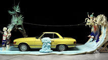 Mercedes-Benz, The installation 'The lifestyle convertible and the legendary playboy' with outfits from Bernhard Willhelm