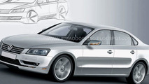 Volkswagen New Mid-Size Sedan NMS Rendering