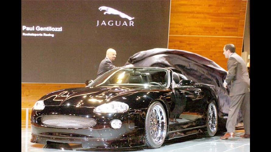 Jaguar XK-RS: Schwarze Turbo-Mieze oben ohne