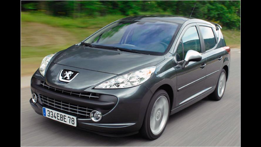 Der Peugeot 207 SW RC wird zum Leistungssportler