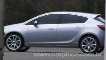 Novo Opel Astra 2010 - Nova imagem mostra visual da lateral sem disfarces