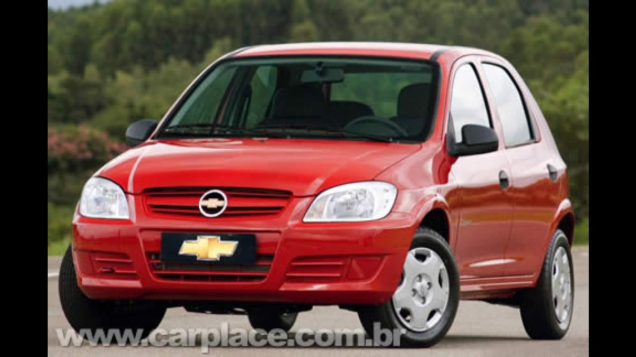 Chevrolet Celta 2009 também recebe o motor 1.0 VHCE de até 78 cavalos