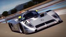 Mercedes C291 on track